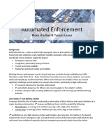 SDOT - Automated Enforcement Fact Sheet