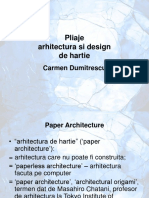 Pliaje Arhitectura Si Design de Hartie