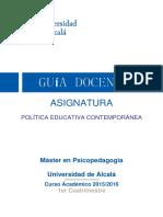 15 16 Politica Educativa Contemporánea Manuel Casado