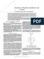The Dynamic Principles of Machine Foundations and Ground