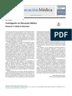 Investigación en Educación Médica