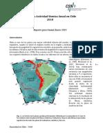 Más de siete mil sismos se registraron en Chile durante 2018