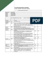 self assesment checklist