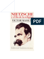 Nietzsche y El Fin de La Religion
