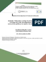 Jornadas2016jovenesyadultos Grupo Trabajo -Procesos Ensenanza