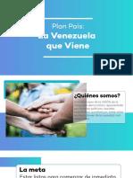 Plan País 2019. La Venezuela que viene