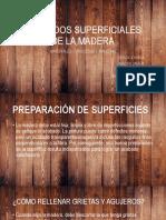 Acabados Superficiales de La Madera