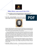 Military History Anniversaries 0201 Thru 021418