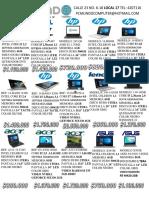 Precios portatiles de Colombia