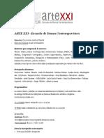 Info Escuela ArteXXI - 2019