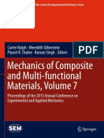 (Conference Proceedings of the Society for Experimental Mechanics Series) Carter Ralph, Meredith Silberstein, Piyush R. Thakre, Raman Singh (Eds.) - Mechanics of Composite and Multi-functional Materia