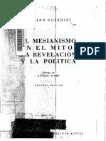 Romano Guardini - El Mesianismo en El Mito, La Revelación y La Política