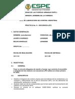 P9 Secuencia Lifo