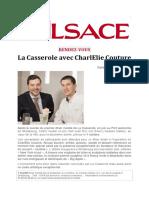 l Alsace Sept 2018 Diner Insolite