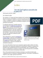 ConJur - Conselho Superior Do Carf Aplica Conceito de Insumo Do STJ1