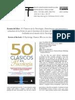 Resena Del Libro 50 Clasicos de La Psicologia Revi
