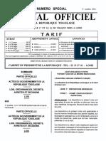 Togo Code 2016 Marine Marchande