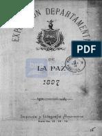 Honorable Consejo Municipal de La Paz - Exposición Departamental de La Paz, 1897