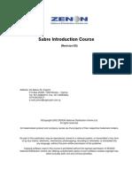 Sabre Introduction Manual