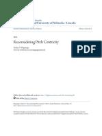 Reconsidering pitch centricity - Stanley V. Kleppinger