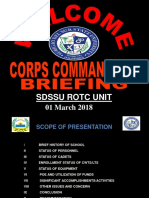 SDSSU ROTC UNIT HISTORY 2019 (Briefing) Ok