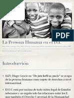 Persona Humana en el derecho Internacional