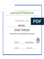 curtis participation certificate 2018