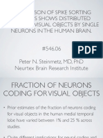COMPARISON OF SPIKE SORTING METHODS SHOWS DISTRIBUTED CODING OF VISUAL OBJECTS BY SINGLE NEURONS IN THE HUMAN BRAIN.