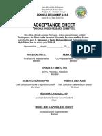 Editable Acceptance Sheet