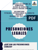 PRESUNCIONES LEGAES