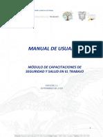 Manual de Usuario Registro de Capacitaciones SUT