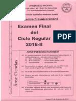 Cpu Unasam Examen Final Del Ciclo Regular 2018 - II