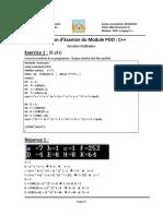 Correction d Examen du Module POO _ C++