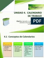4. Calendario de Trabajo con MIcrosoft Project