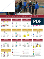 Calendario oficial Colsan 2019
