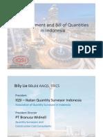 QS Measurement & BQ in Indonesia