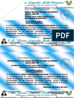 Certificados de Reconocimiento Para Escolta 2018