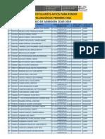 Lista de Postulantes Aptos - Coar 2019