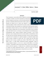 Orden Publico Internacional vs ORDEN PUB