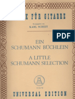 SCHUMANN Robert - A Little Schumann Selection - Guitar