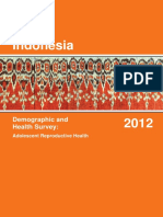Indonesia Demographic and Health Survey 2012 Adolescent Reproductive Health