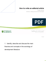 How to Write Editorial Article