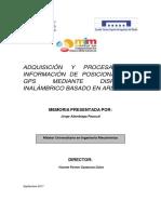 ALAMBIAGA - Adquisición y Procesado de Información de Posicionamiento GPS Mediante Dispositivo in...