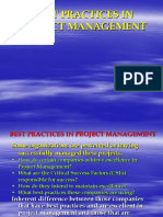 Best Practices in Project Management