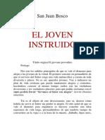 EL JOVEN INSTRUIDO. San Juan Bosco. Título original Il giovane proveduto. Prólogo.pdf