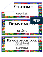 welcome in many languages template