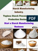Cassava Starch Manufacturing Industry