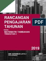 RPT Matematik Tambahan T4 2019