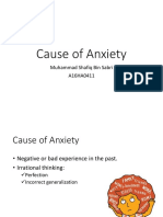 Cause of Anxiety