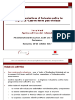Peer Review Study_evaluations of Cohesion Policy